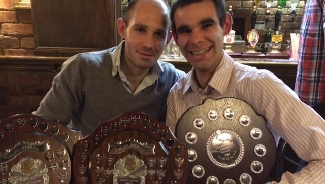 Skipper Dave Preece and brother John with their trophy haul.
