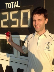 Chris Hall - 250th wicket, not bad considering it seems like about 50 of them were this season.
