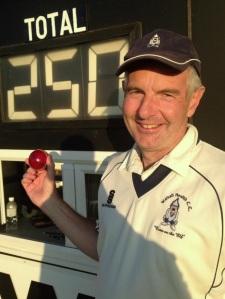 Jon Nicholls - 250th wicket for the Walsall Health legend.