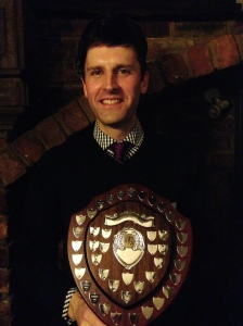 Chris 'Ironman' Hall - winner of the Tim Oliver bowling trophy