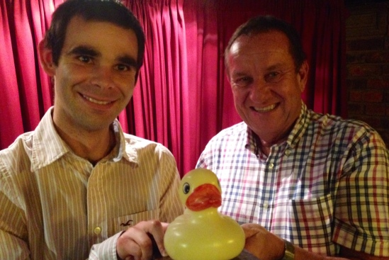 Jonathan Preece, winner of the coveted Duck Trophy.